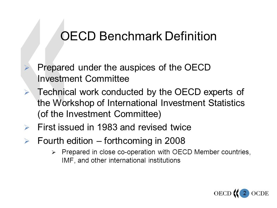 OECD Benchmark Definition