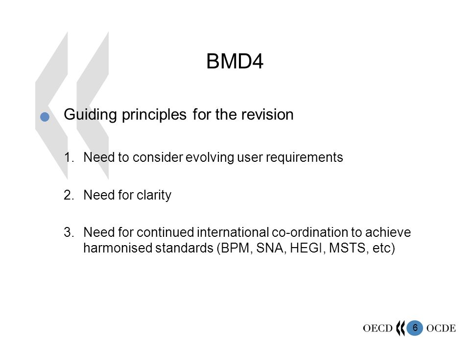 BMD4 Guiding principles for the revision