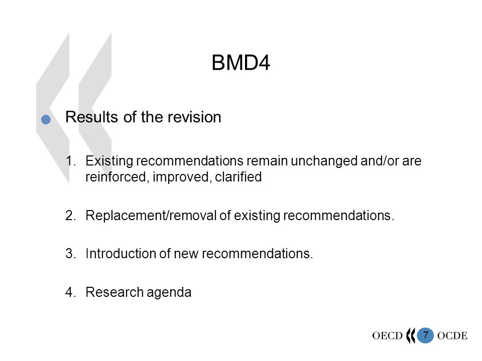 BMD4 Results of the revision