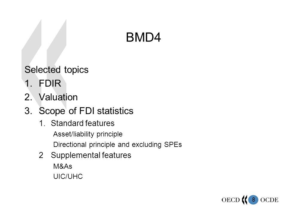BMD4 Selected topics FDIR Valuation Scope of FDI statistics