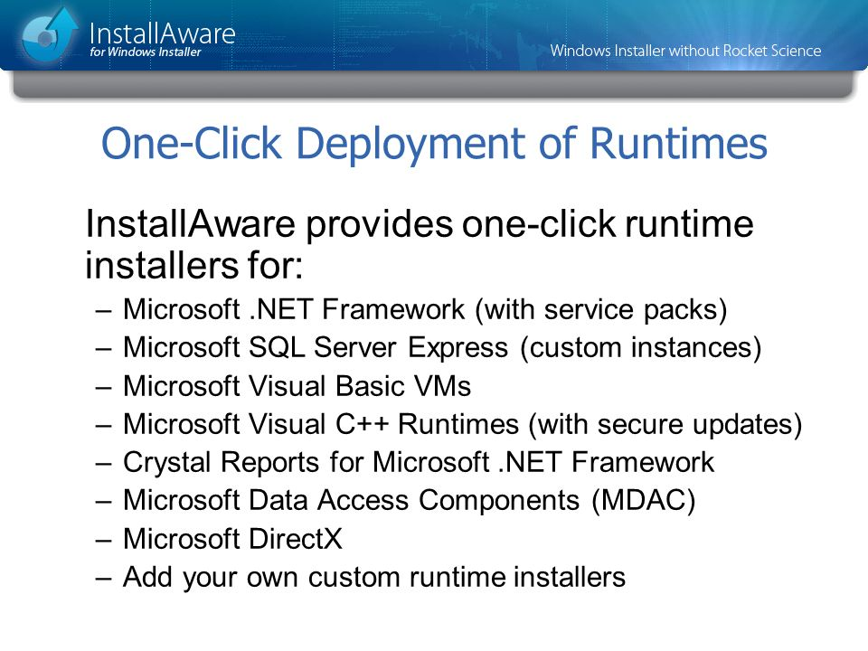 One-Click Deployment of Runtimes