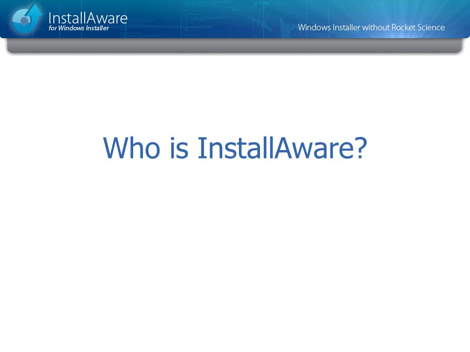 Who is InstallAware