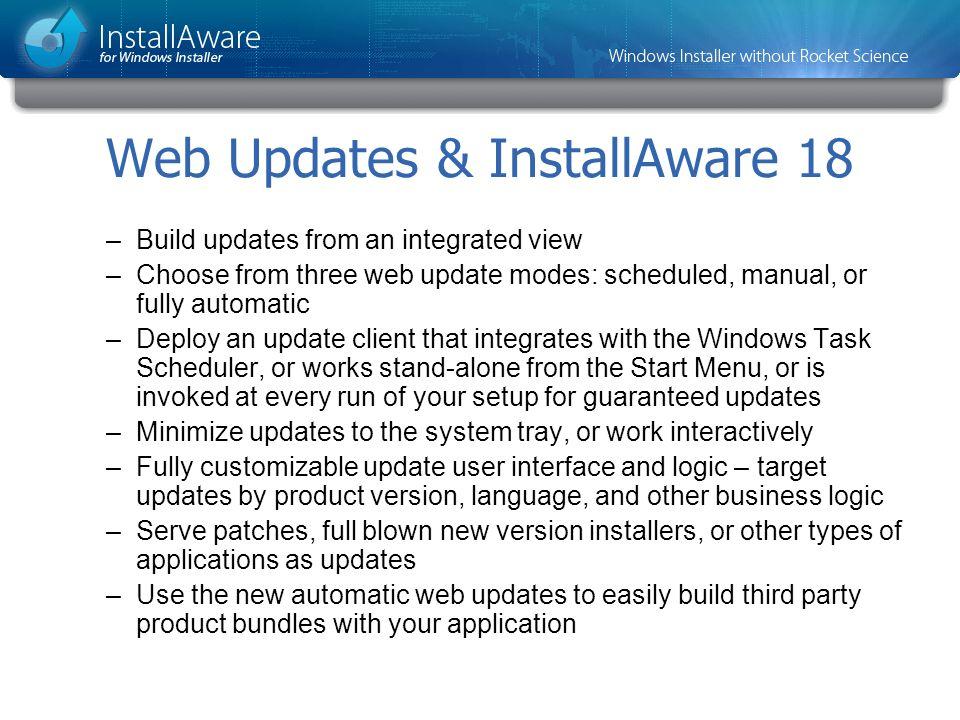 Web Updates & InstallAware 18