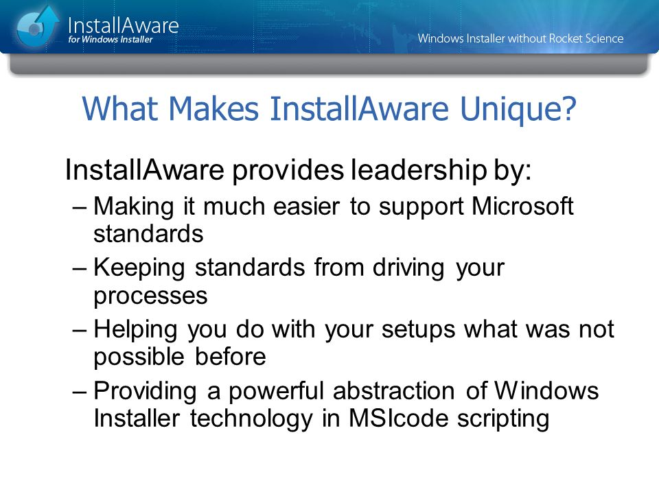 What Makes InstallAware Unique
