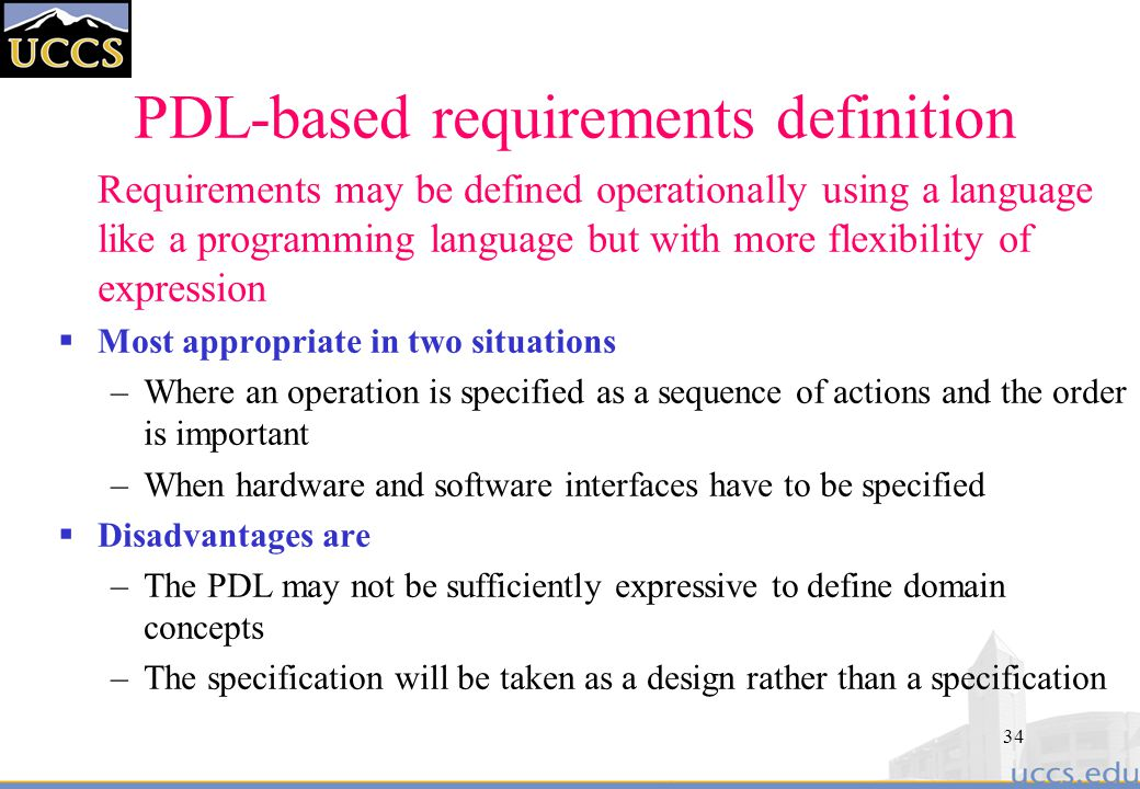 PDL-based requirements definition