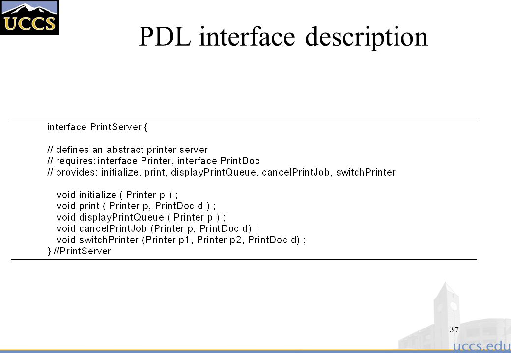 PDL interface description