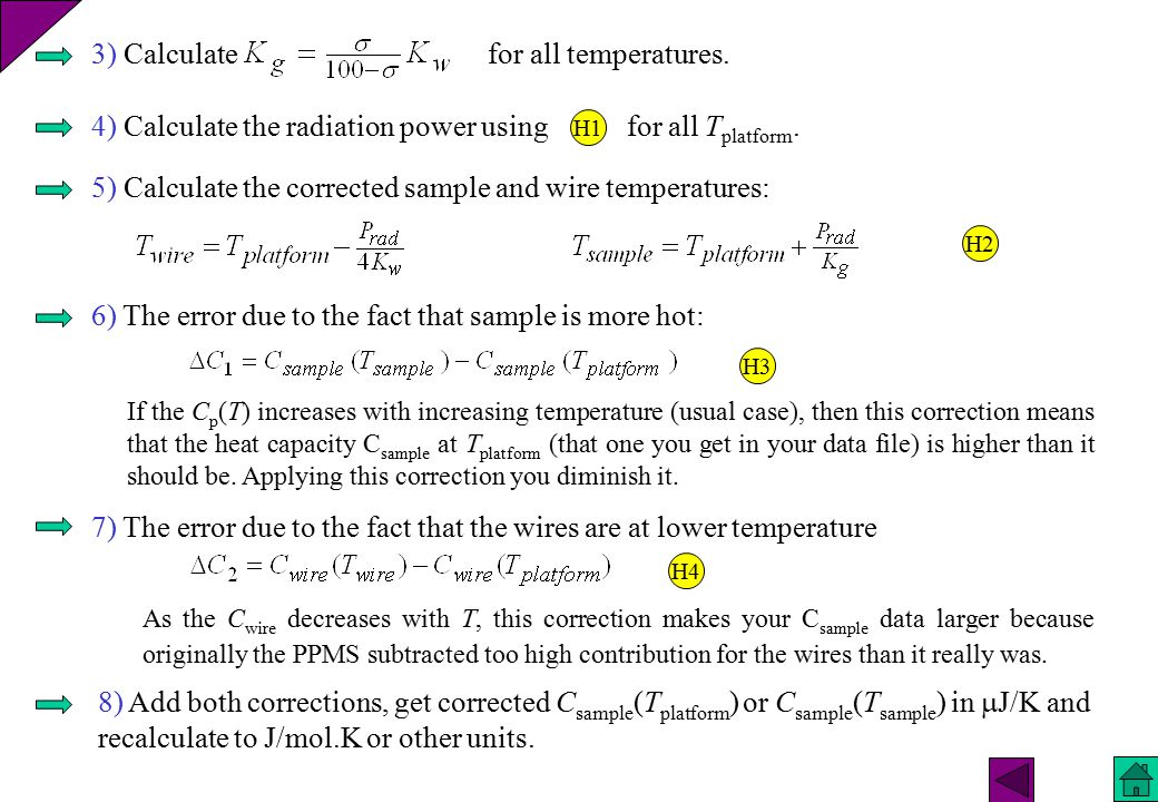 3) Calculate for all temperatures.