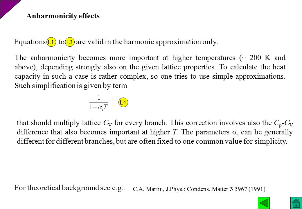 Anharmonicity effects