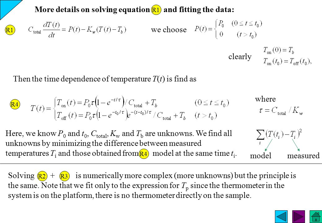 More details on solving equation and fitting the data: