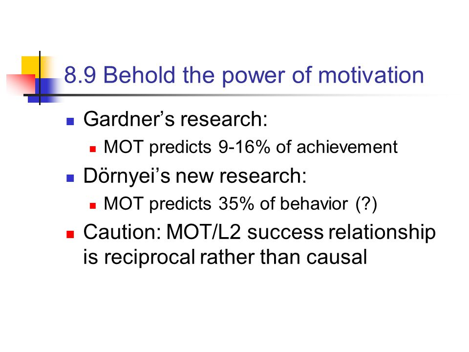 8.9 Behold the power of motivation
