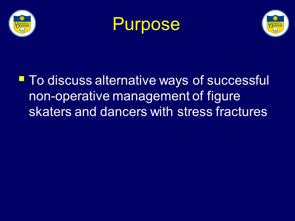 Purpose To discuss alternative ways of successful non-operative management of figure skaters and dancers with stress fractures.