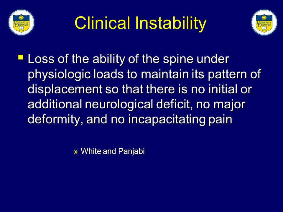 Clinical Instability