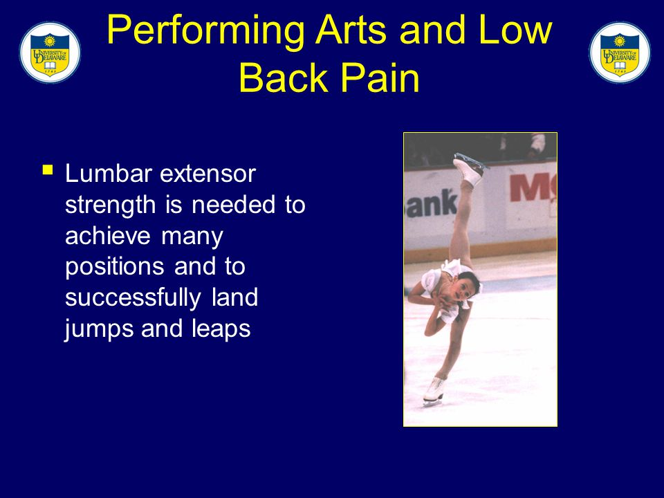 Performing Arts and Low Back Pain