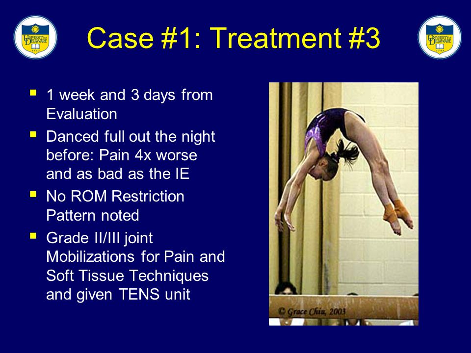 Case #1: Treatment #3 1 week and 3 days from Evaluation