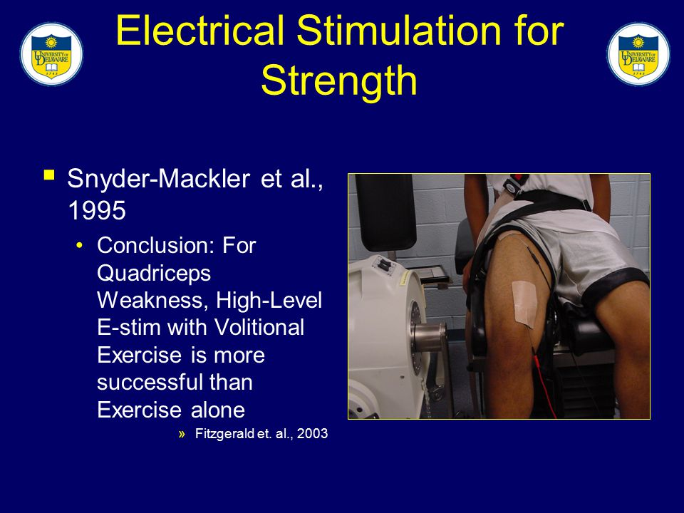 Electrical Stimulation for Strength
