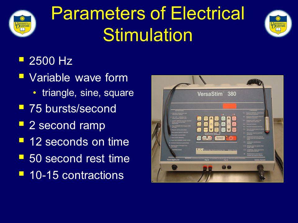 Parameters of Electrical Stimulation