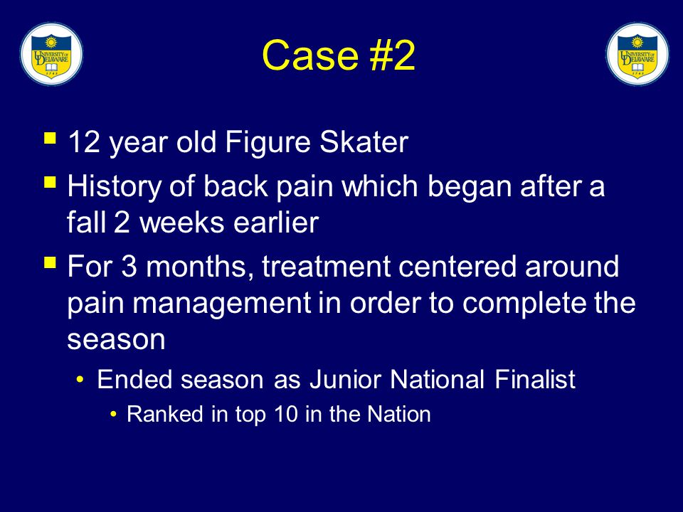 Case #2 12 year old Figure Skater