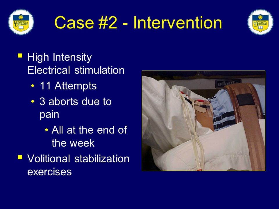 Case #2 - Intervention High Intensity Electrical stimulation