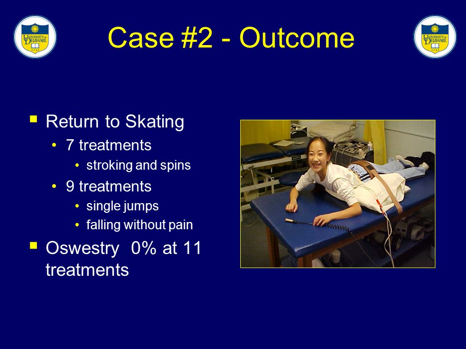 Case #2 - Outcome Return to Skating Oswestry 0% at 11 treatments