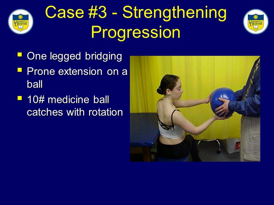 Case #3 - Strengthening Progression