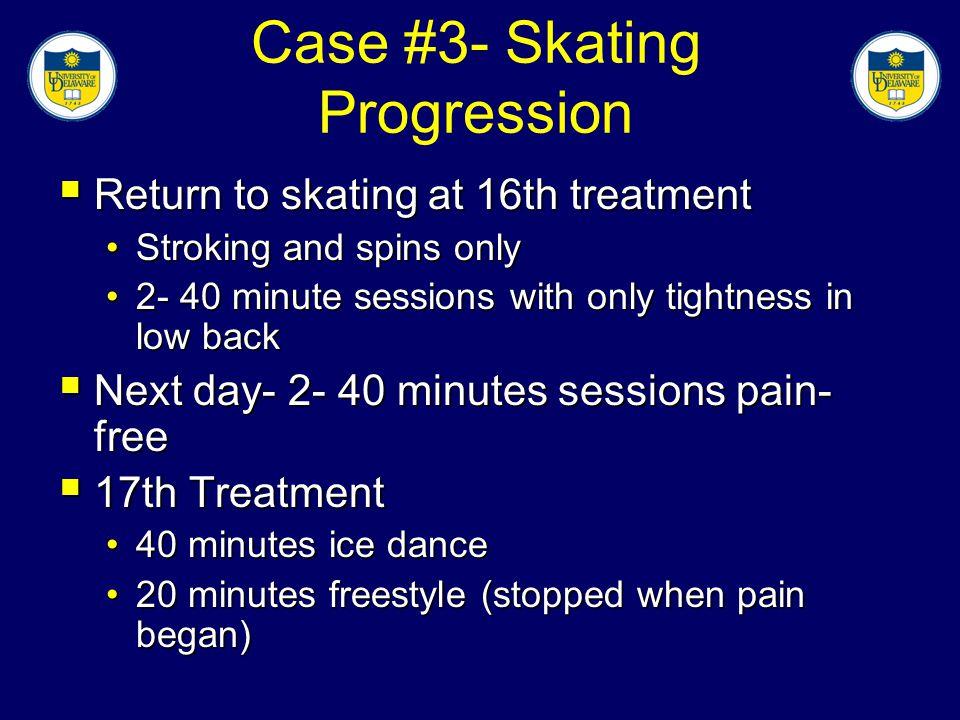 Case #3- Skating Progression