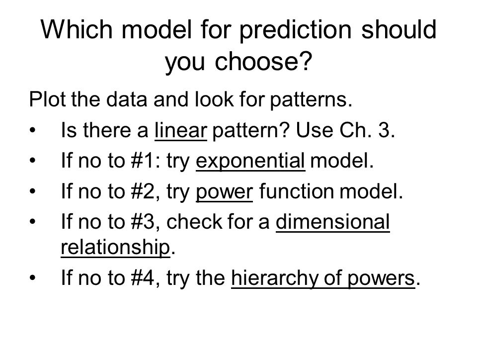 Which model for prediction should you choose