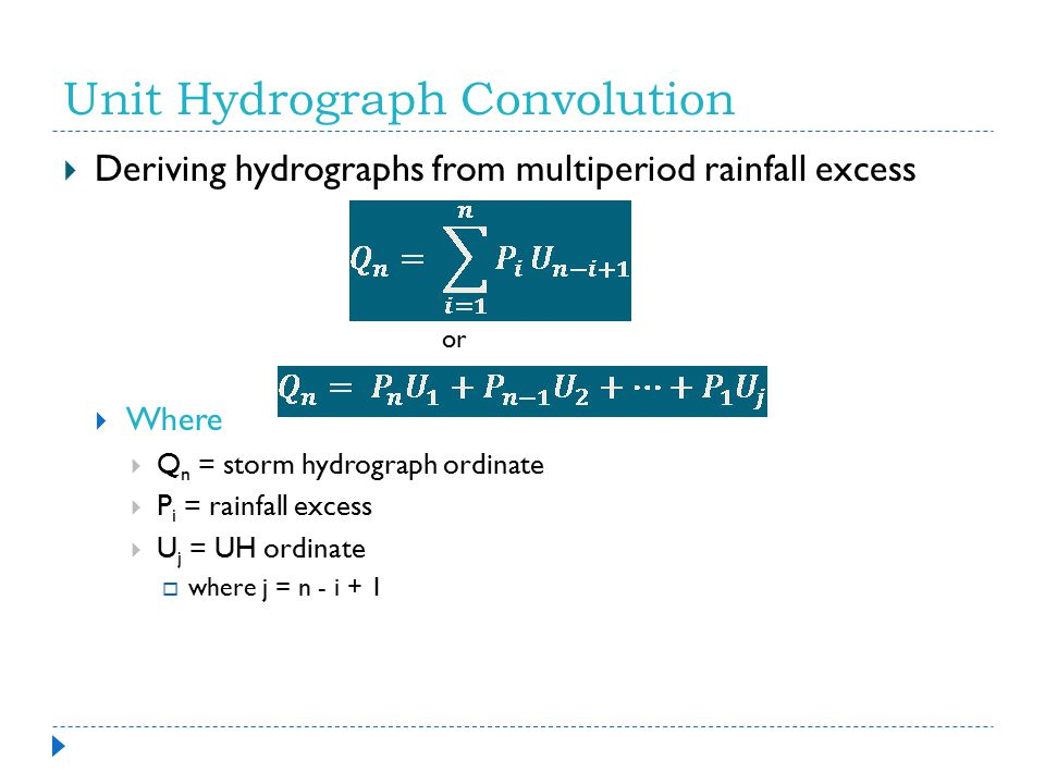 Unit Hydrograph Convolution