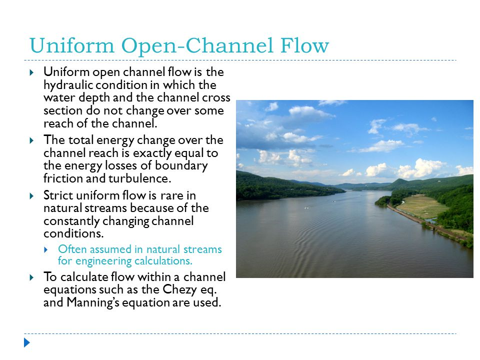 Uniform Open-Channel Flow