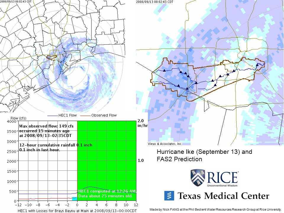 Hurricane Ike (September 13) and FAS2 Prediction