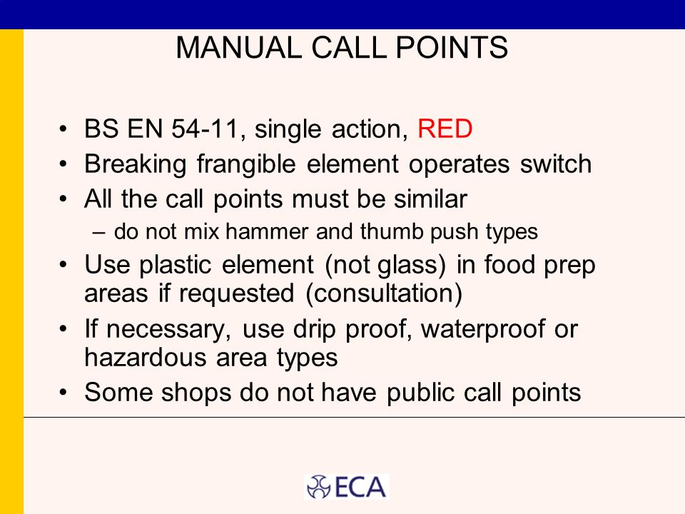 MANUAL CALL POINTS BS EN 54-11, single action, RED