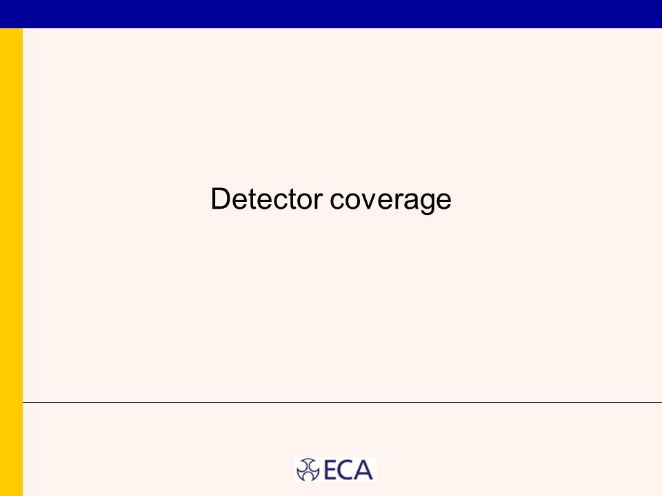 Detector coverage