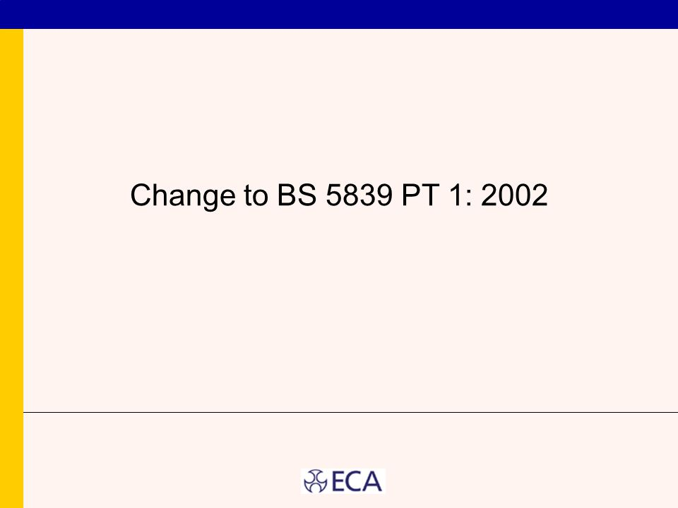Change to BS 5839 PT 1: 2002