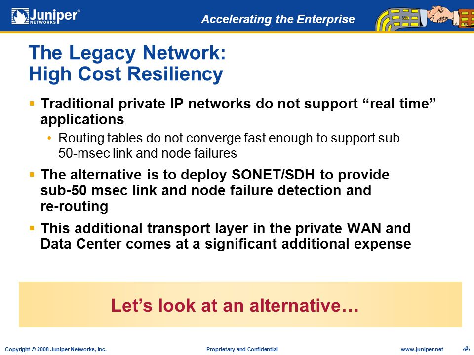 The Legacy Network: High Cost Resiliency