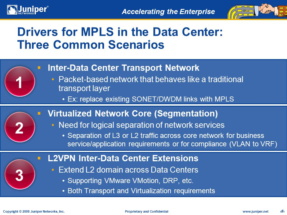 Drivers for MPLS in the Data Center: Three Common Scenarios