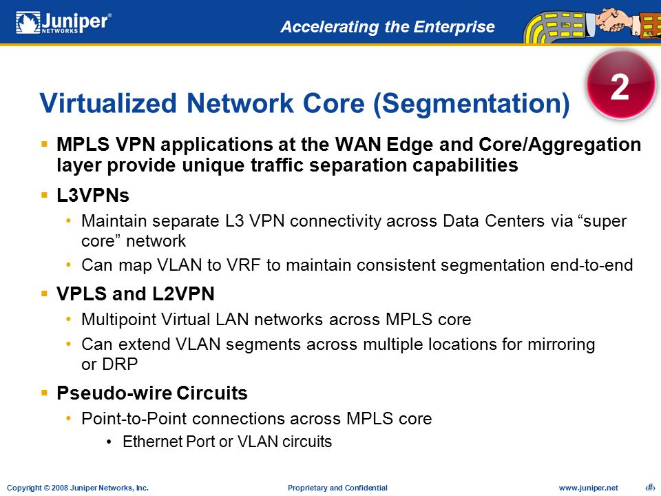 Virtualized Network Core (Segmentation)
