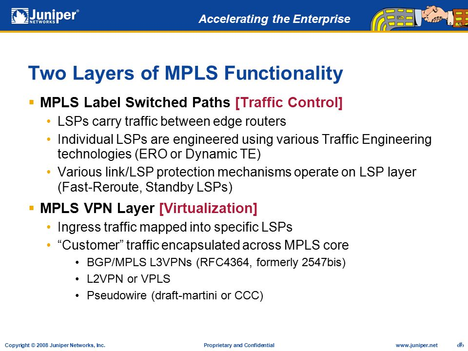Two Layers of MPLS Functionality