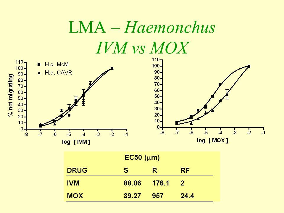 LMA – Haemonchus IVM vs MOX