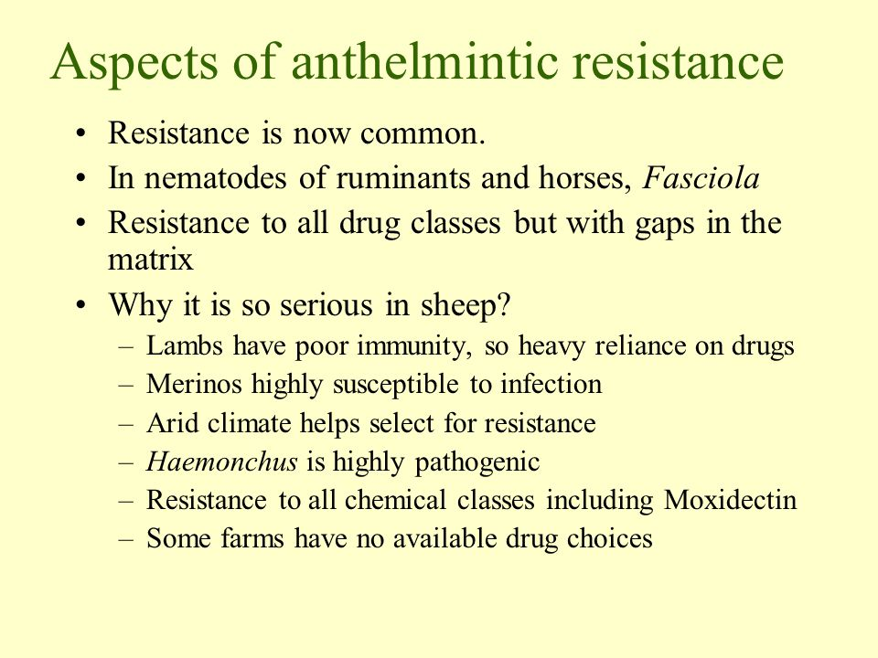 Aspects of anthelmintic resistance