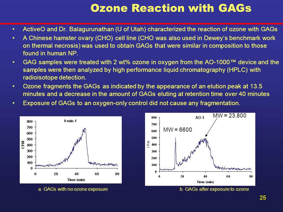 Ozone Reaction with GAGs
