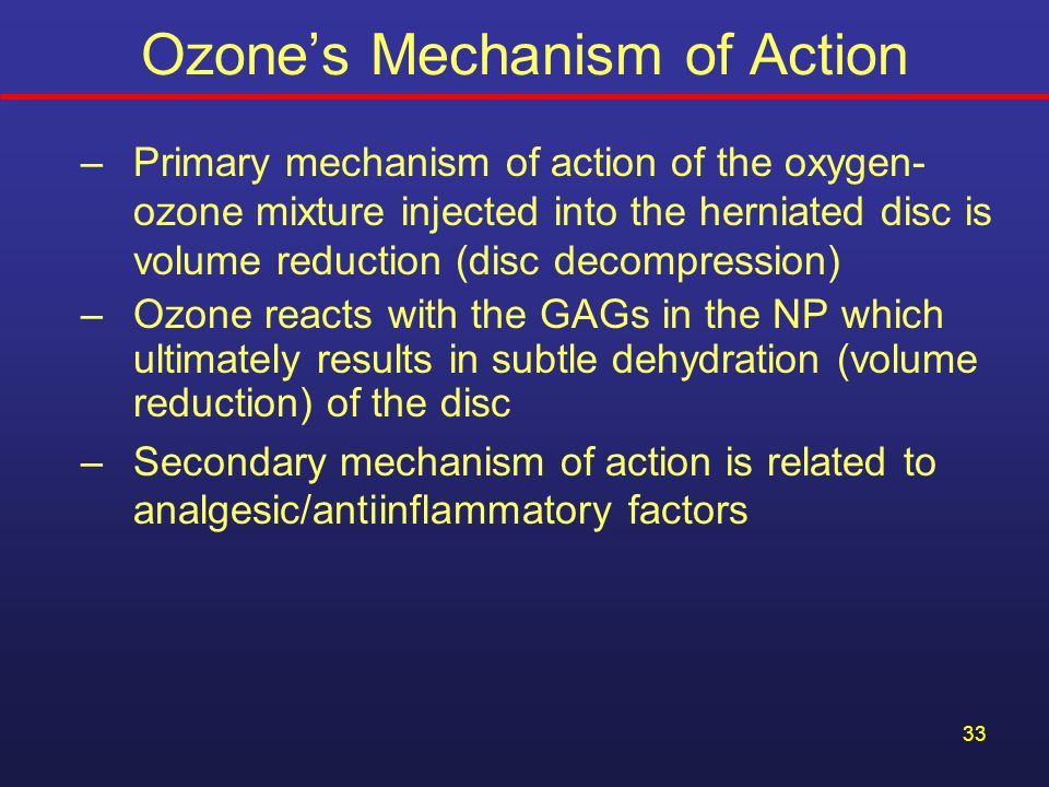 Ozone's Mechanism of Action