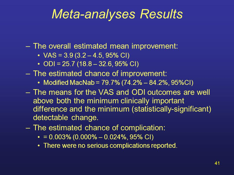 Meta-analyses Results