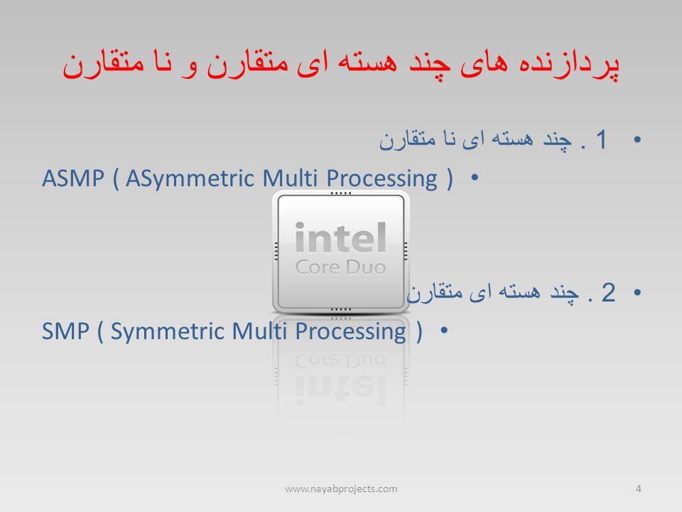پردازنده های چند هسته ای متقارن و نا متقارن