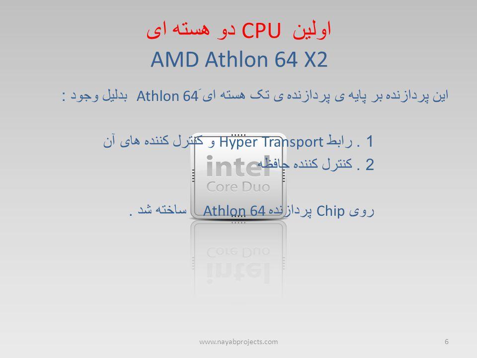 اولین CPU دو هسته ای AMD Athlon 64 X2
