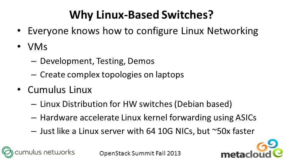 Why Linux-Based Switches