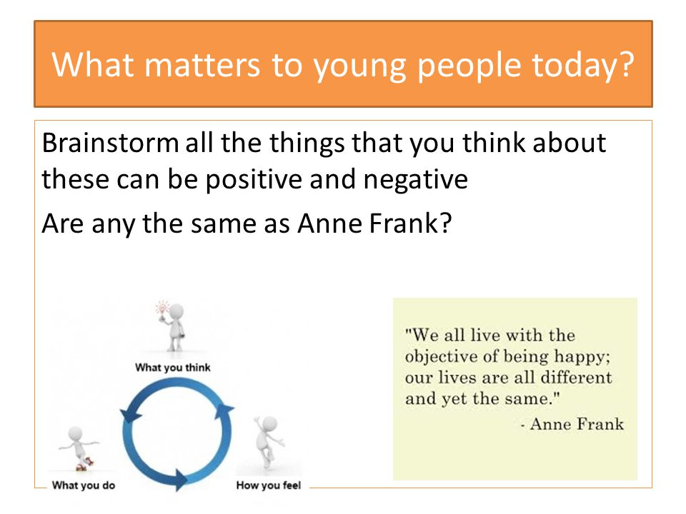 What matters to young people today