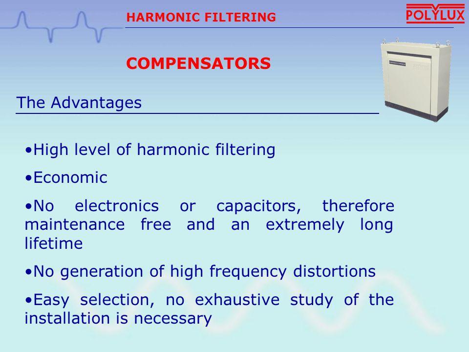 High level of harmonic filtering Economic