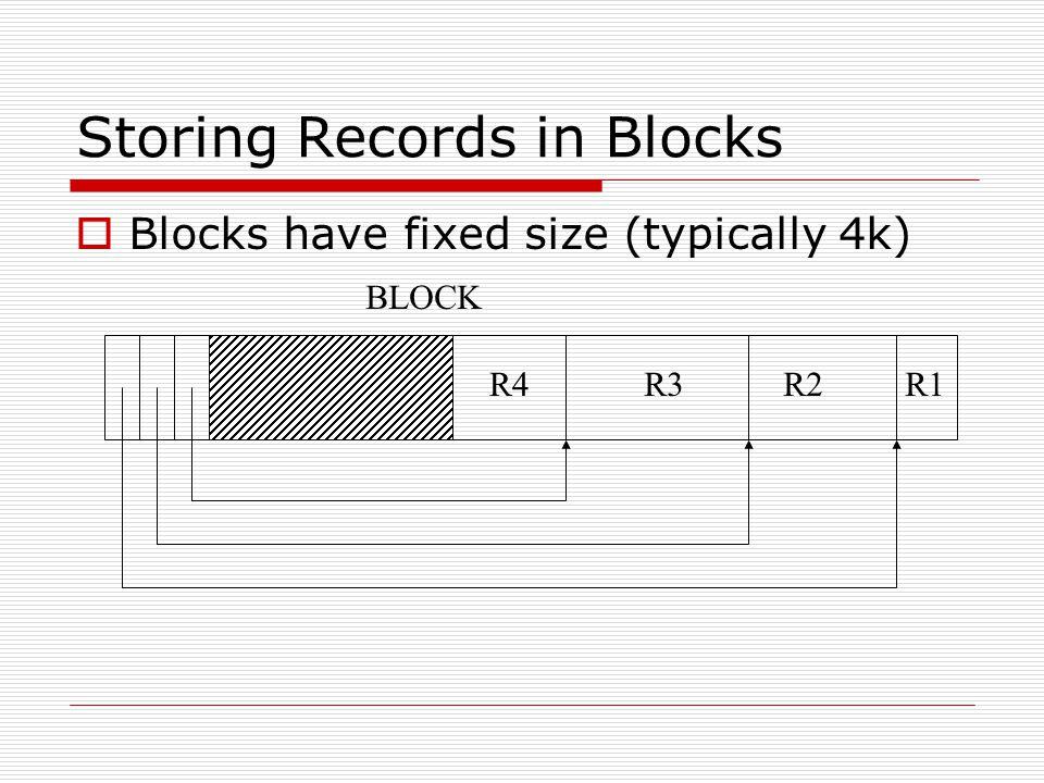 Storing Records in Blocks