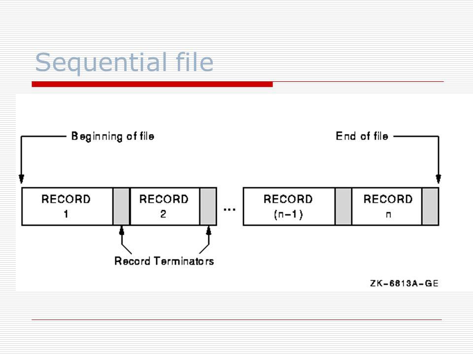 Sequential file