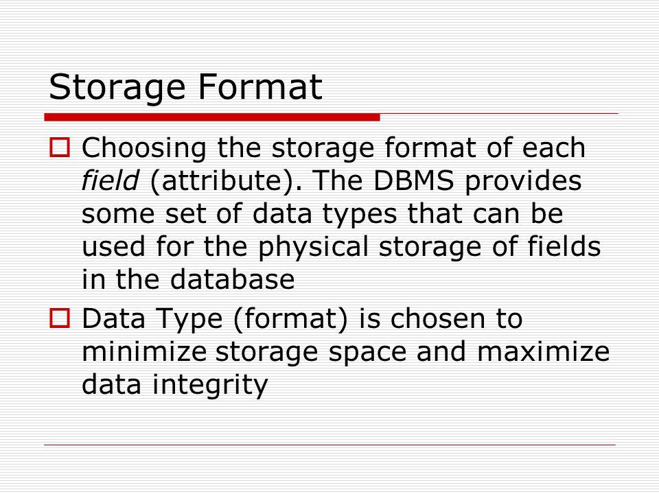Storage Format