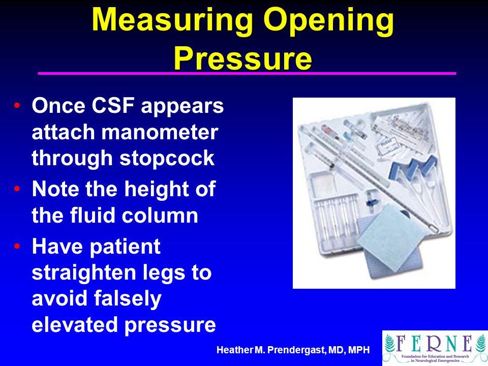 Measuring Opening Pressure